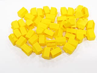 Plastic Hotels: Yellow Color Board Game Replacement Hotel (Colored Miniature Town and City Buildings, Board Game Playing Pieces)