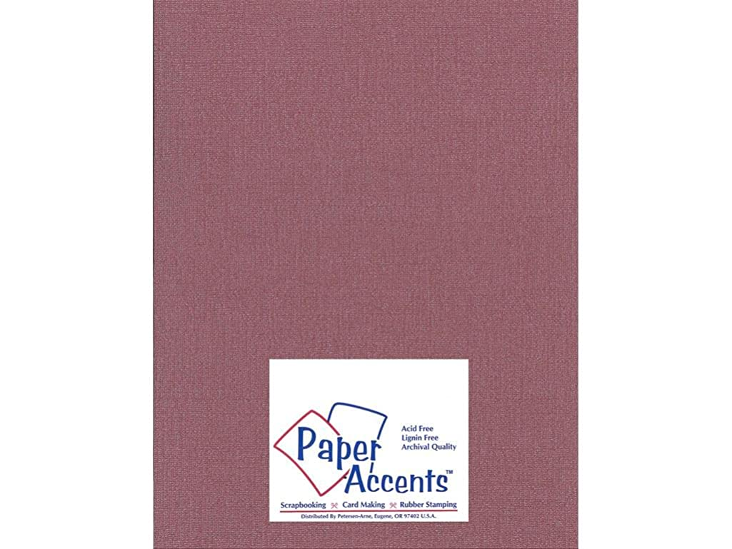 Accent Design Paper Accents Cdstk Glimmer 8.5x11 80# Cranberry Zing