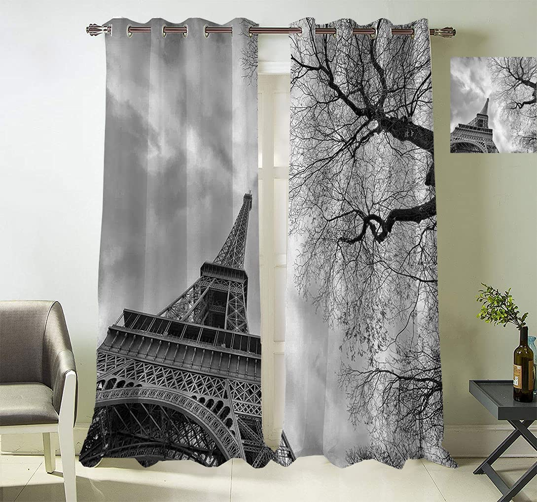 Eiffel Tower Window specialty Columbus Mall shop Curtain Tre Panels with Winter