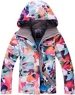 Women`s Ski Bib Suit Jacket Waterproof Snowboard Colorful Printed Ski Jacket and Pants Set