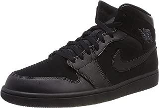 Nike Air Jordan 1 Mid Mens Hi Top Basketball Trainers 554724 Sneakers Shoes (UK 10 US 11 EU 45, Black Dark Grey 050)