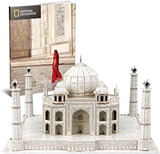 CubicFun 3D Puzzles Models Architecture Kits for Adults and Kids,with National Geographic Booklet for India Taj Mahal