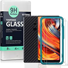 Ibywind Screen Protector for Xiaomi Mi Mix 2 [Pack of 2] 9H Tempered Glass Protector with Back Carbon Fiber Skin Protector...