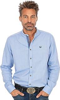 OS-Trachten Stehkragenhemd 420010-2857-42 blau