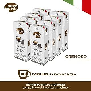 Espresso Italia Coffee Capsules. Single Cup Coffee Pods Compatible with Nespresso Original machines (CREMOSO, 80)