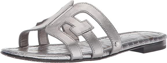 Sam Edelman Women's Bay Slide Sandal, Pewter Metallic Leather, 5.5 M US