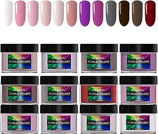 12 Colors Acrylic Powder set, Nail Extension, Non-Yellowing Formula, Acrylic Nail Art, DIY Nail Art, Reazeal
