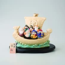 Seven Lucky Gods cream Seven Lucky Gods luck treasure ship good luck good luck figurine Setoyaki 4a119-51 -海外卖家直邮