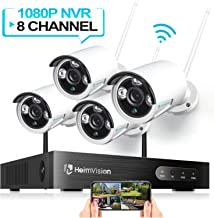 HeimVision HM241 Wireless Security Camera System, 8CH 1080P NVR 4Pcs 960P Outdoor/ Indoor..