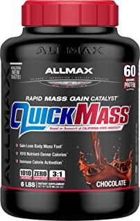 ALLMAX Nutrition QuickMass Rapid Mass Gain Catalyst, Chocolate, 6 lbs