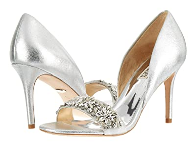 Badgley Mischka Ivy (Silver Metallic Suede) High Heels