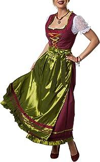 dressforfun dressforfun 900587 Maxi-Dirndl, Langes, gepunktetes Dirndl in traditionellem Stil - Diverse Größen - L| Nr. 302917