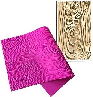 AK ART KITCHENWARE Woodgrain Fondant Impression Mat Silicone Cake Lace Mold Cake Texture Mat Pink BLM-23