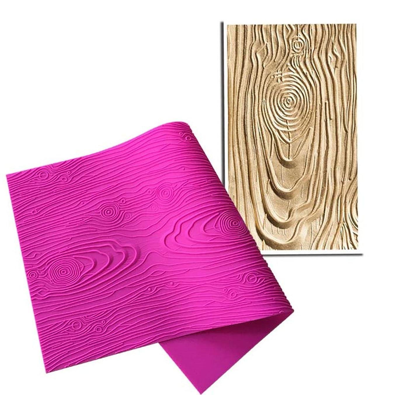 工夫するタンカー簡単にART Kitchenware Woodgrain Fondant Impression Mat Silicone Cake Lace Mold Color Pink BLM-23 by Art Kitchenware