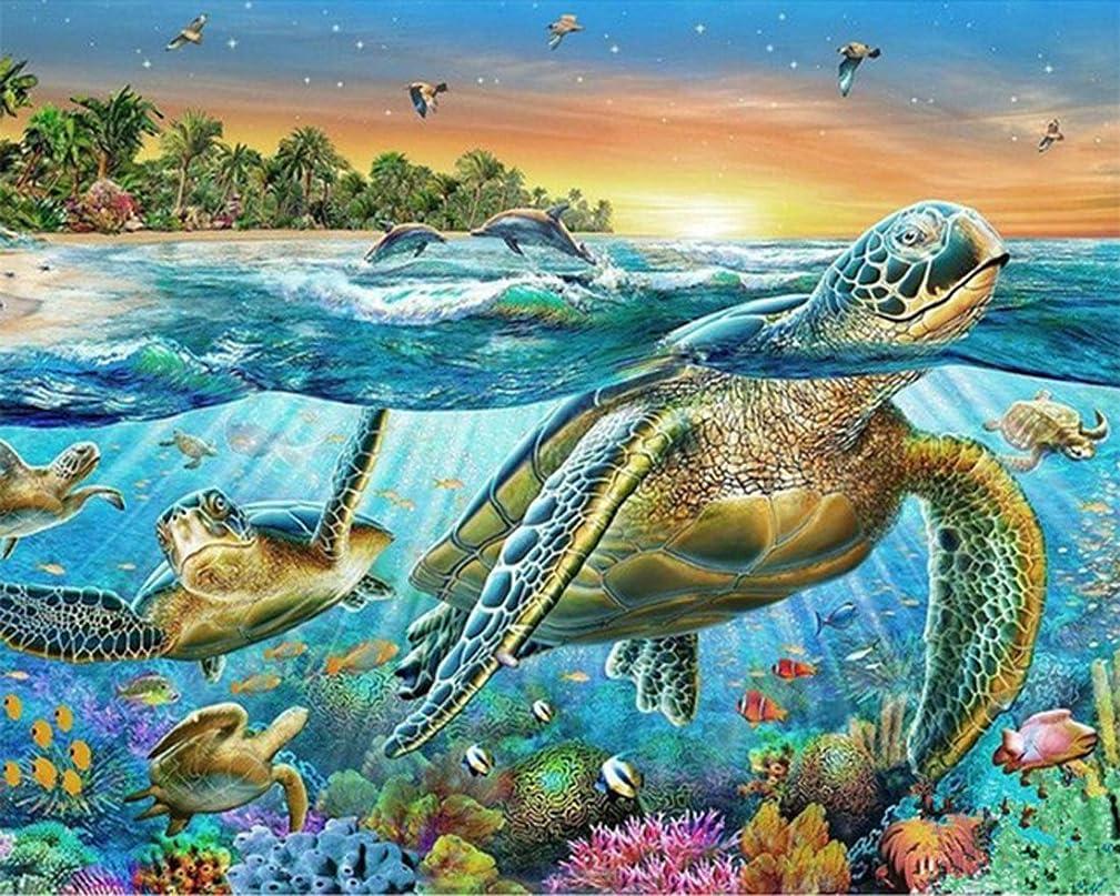 21secret 5D Diamond Diy Painting Full Round Drill Handmade Riotous Ocean world Sea Turtle Cross Stitch Home Decor Embroidery Kit