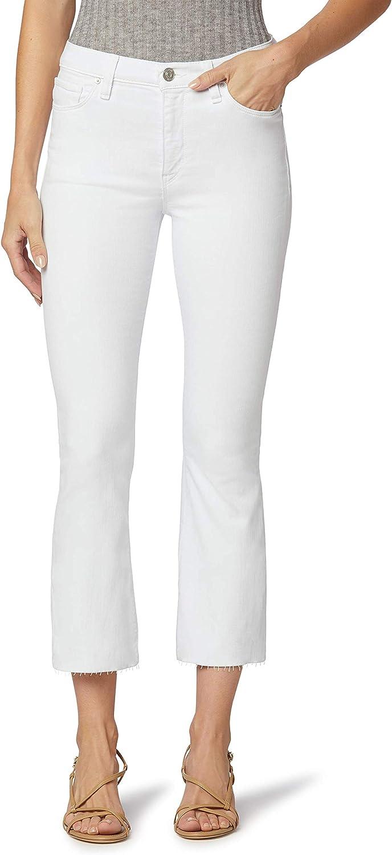 HUDSON Jeans Women's Barbara High Rise, Cropped, Bootcut Jean, White, 25