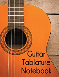 Guitar Tablature Notebook: 5 Blank Chord Diagrams Seven 6-line Staves per page with 110 pages printed on both sides in an 8.5x11 size.