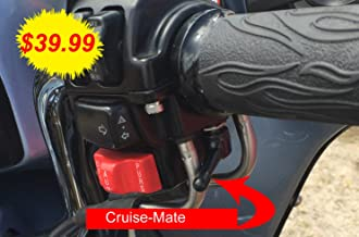 Cruise-Mate 2004-BLK-FBA - Black Throttle Assist for Harley-Davidson Motorcycles 1996 - Present, (Except 2014 + Touring Models Road King, Road Glide, Street Glide, Electra Glide)