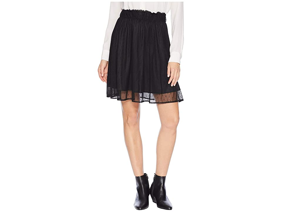 Scully Kylah Swiss Dot Skirt (Black) Women's Skirt