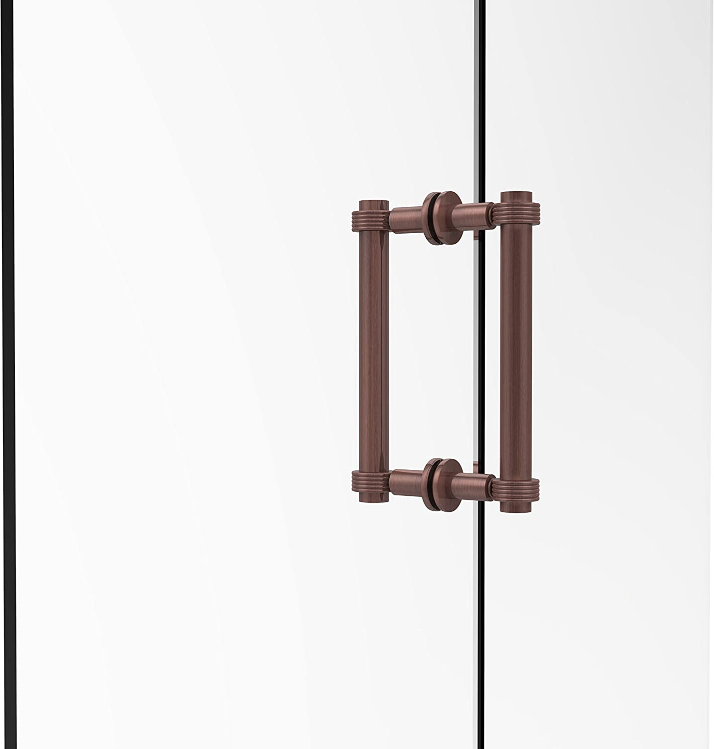 Allied Brass 404G-8BB-CA Contemporary 8  Back To Back Shower Door Pull with Grooved Accent,