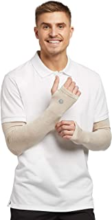 Solbari UPF 50+ Sun Protective Arm Sleeves – Sensitive Collection, UV Protection For Men & Women, (Set of Two Sleeves)