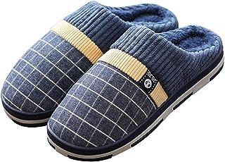 Men's Women's Unisex Cozy Memory Foam Slippers Fuzzy Wool-Like Plush Fleece Lined House Shoes w/Indoor,Outdoor Anti-Skid R...