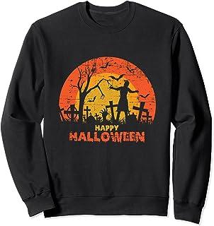 Cimetière grunge effrayant Happy Halloween Sweatshirt