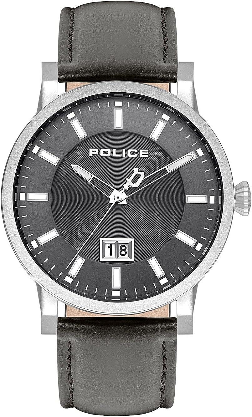 Police Reloj Analógico para Unisex Adultos de Cuarzo con Correa en Cuero PL15404JS.13