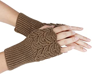Maonet Clearance Womens Warm Winter Brief Paragraph Knitting Half Fingerless Gloves