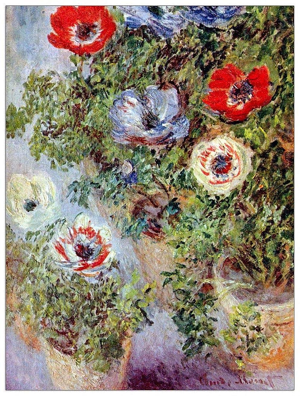 ArtPlaza TW91934 Monet Claude - Still Life with Anemones Decorative Panel 27.5x35.5 Inch Multicolored