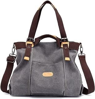 Women Shoulder bags Casual Vintage Hobo Canvas Handbags Top Handle Tote Crossbody Shopping Bags