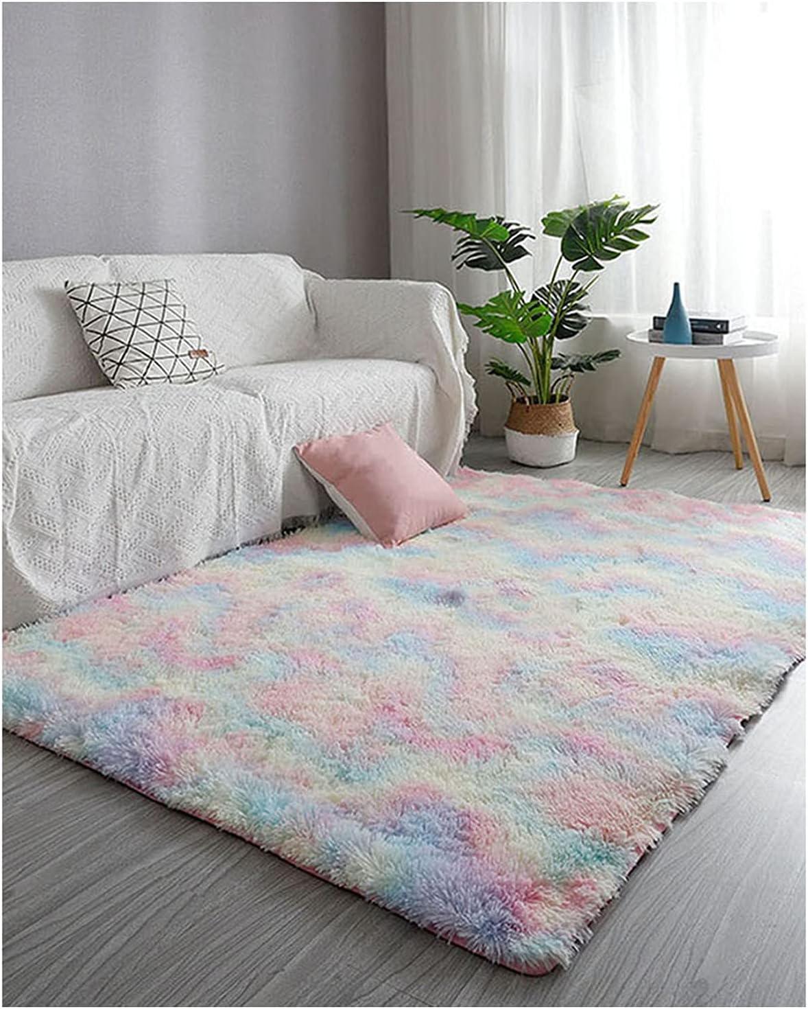 WERTYU Modern Area Rug Indoor Ultra Soft So Fluffy San Diego Mall Topics on TV Bedroom Floor