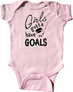 Girls Gotta Have Goals- Hockey Player Infant Creeper