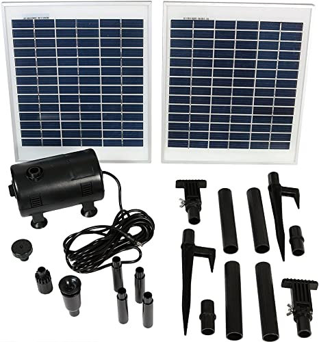discount Sunnydaze Outdoor outlet online sale Solar Pump and popular Panel Fountain Kit with 120-Inch Lift, 396 GPH outlet sale