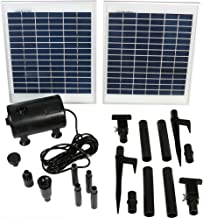 Sunnydaze Outdoor Solar Pump and Panel Fountain Kit with 120-Inch Lift, 396 GPH