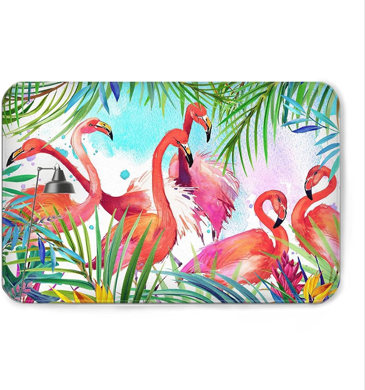 Flamingo Welcome Mat Bath Rugs Doormat Bathroom NEW before unisex selling Fl Non-Slip
