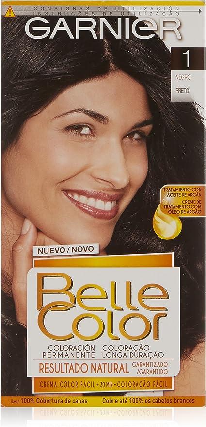 Garnier Belle Color Coloración, Tono: nº1 Negro: Amazon.es ...