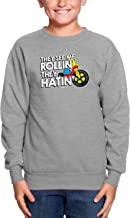 HAASE UNLIMITED They See Me Rollin They Hatin' - Funny Toddler Fleece Crewneck Sweater