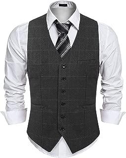 Men's V-Neck Suit Vest Casual Slim Fit Wedding Dress Waistcoat