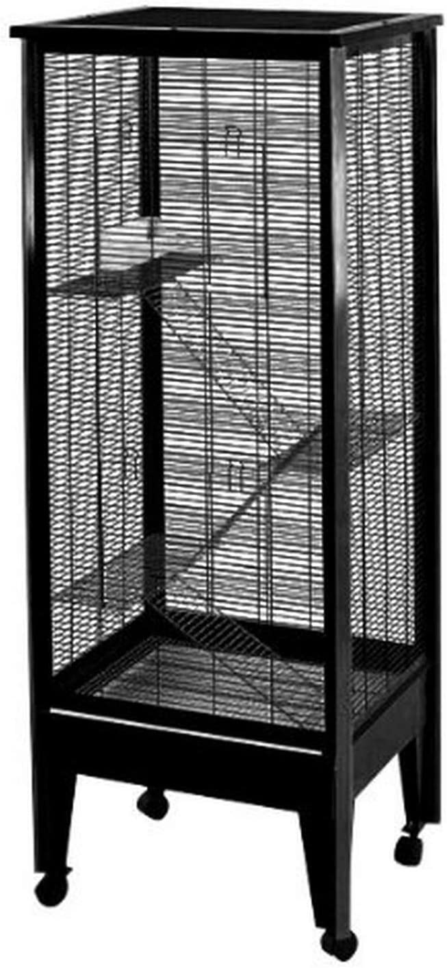 AE Cage Co. Medium 4 67% OFF of fixed price Level on Black Small Casters Ranking TOP10 Animal