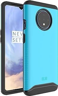 OnePlus 7Tケース、TUDIA Slim-Fit [Merge]ミリタリーグレードの滑り止め衝撃吸収極端な保護/OnePlus 7Tの頑丈なスリムデュアルレイヤーケース[OnePlus 7T Proとは互換性がありません] (青)