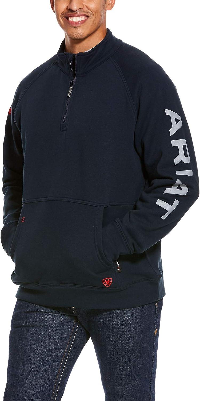 ARIAT Men's Fr Primo Fleece Logo 1/4 Zip Sweater