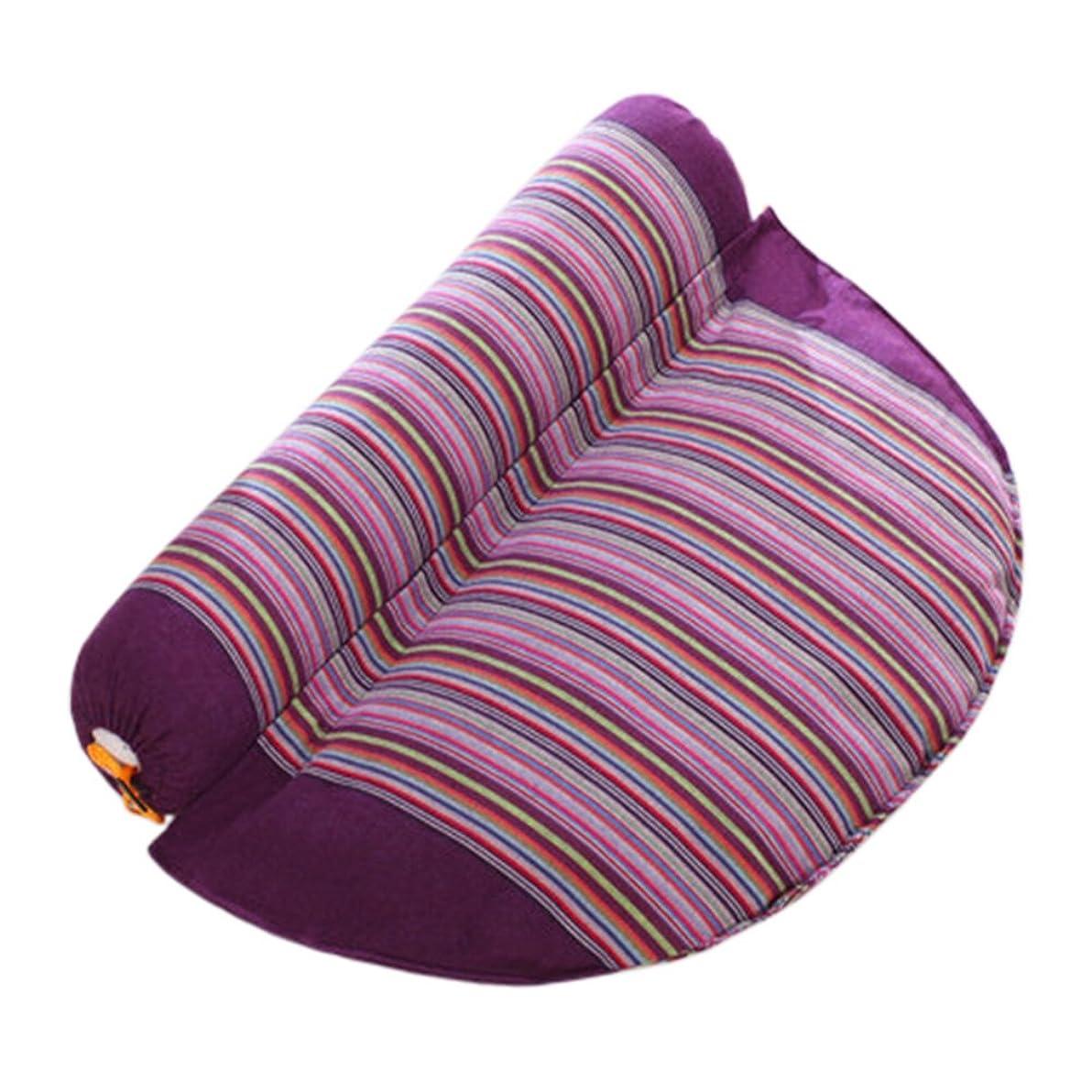 コカインサポート薄い健康な頸部の枕快適な首のロール枕の首のサポート枕紫