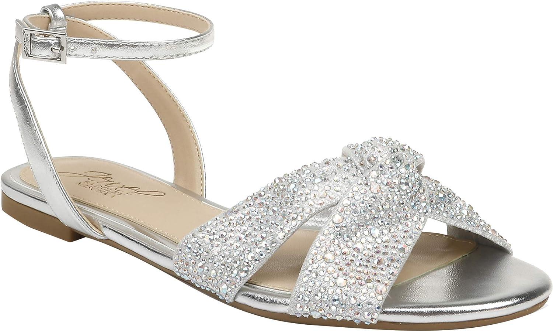 Jewel Badgley Mischka Women's Sandal Flat Surprise price Nicole New Orleans Mall