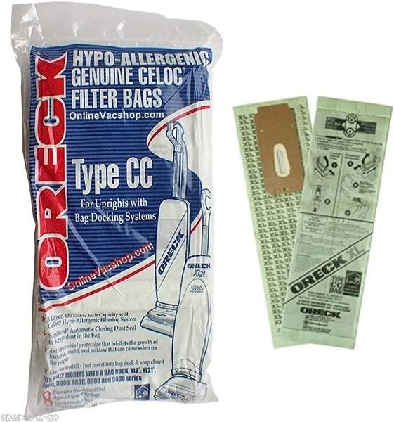 Oreck Hypo Allergenic Genuine Celoc Filter Bags Type CC