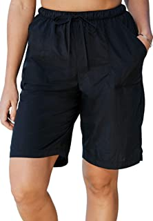 bca415644b570 Swimsuits For All Women's Plus Size Taslon Swim Board Shorts with Built-in