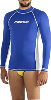 Cressi Men's Rash Guard Man Long Sl Long Sleeves Protective Jersey, in Special Elastic Fabric, UV Sun Protection (UPF) 50+