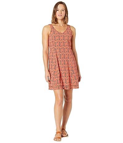 Toad&Co Sunkissed Petal Dress (Coral Blaze Petal Print) Women