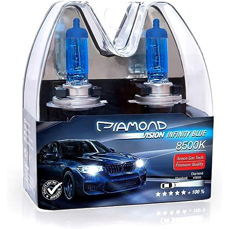 2x H1 12v 55w Diamond Vision Xenon Look Effekt Halogen Kfz Lampen Birnen Licht Optik Super Ultra White 8500k Abblendlicht Fernlicht Nebelscheinwerfer Kaltweiss Weißes Licht Weiß Duobox P14 5s Auto