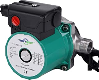 BOKYWOX 110-120V 3/4'',3-Speed Food Grade Domestic Circulation Pump Hot Water Circulator Circulating Pump (RS15-6SG)